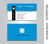 business vector card creative... | Shutterstock .eps vector #524905786