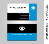 business vector card creative... | Shutterstock .eps vector #524909602