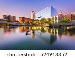 Small photo of Providence, Rhode Island, USA skyline at Waterplace Park.