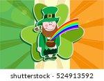 vector greeting card for st.... | Shutterstock .eps vector #524913592