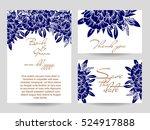 vintage delicate invitation... | Shutterstock .eps vector #524917888