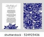 vintage delicate invitation... | Shutterstock .eps vector #524925436