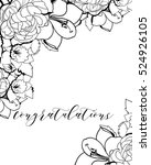 vintage delicate invitation... | Shutterstock .eps vector #524926105