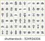 set of 60 cards or posters with ... | Shutterstock .eps vector #524926336