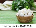 mini mozzarella cheese in a... | Shutterstock . vector #524928556