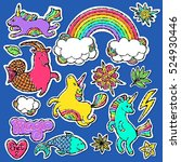 fashion patch badge elements in ... | Shutterstock .eps vector #524930446