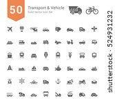 transport   vehicle icon set.... | Shutterstock .eps vector #524931232
