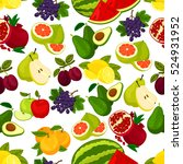 fruits pattern. vector seamless ...