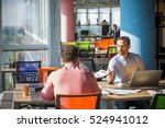 business people working at... | Shutterstock . vector #524941012