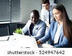 startup business team on... | Shutterstock . vector #524947642