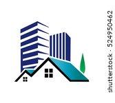 real estate city logo design... | Shutterstock .eps vector #524950462