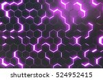 Abstract Purple Background Of...