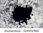 3d rendering explosion  cracked ... | Shutterstock . vector #524952985