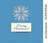 merry christmas scandinavian...   Shutterstock .eps vector #524955946