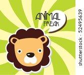 cute lion card 4 | Shutterstock .eps vector #52495639