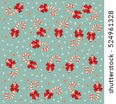 pattern with snowflakes and... | Shutterstock .eps vector #524961328