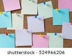 colorful sticky notes on cork... | Shutterstock . vector #524966206