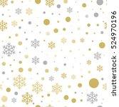 vector seamless christmas... | Shutterstock .eps vector #524970196