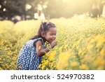 child asian little girl... | Shutterstock . vector #524970382