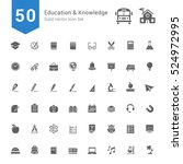 education and knowledge icon... | Shutterstock .eps vector #524972995