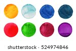 set of colorful watercolor hand ...   Shutterstock . vector #524974846