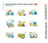 modern education  research and... | Shutterstock .eps vector #524984272