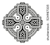 celtic national ornament in the ... | Shutterstock .eps vector #524987335
