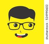geek cartoon nerd geeky | Shutterstock . vector #524990602