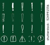 vector set of sketch... | Shutterstock .eps vector #524991556