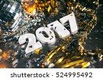 2017 confetti new year's eve... | Shutterstock . vector #524995492