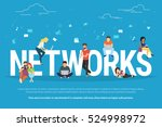 networks concept illustration... | Shutterstock . vector #524998972