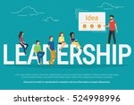 project leadership concept... | Shutterstock . vector #524998996