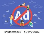 mobile ad prohibition concept... | Shutterstock . vector #524999002