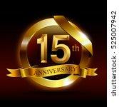 15th golden anniversary logo... | Shutterstock .eps vector #525007942