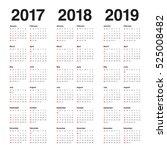 simple calendar template for... | Shutterstock .eps vector #525008482