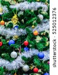 christmas tree with colorful...   Shutterstock . vector #525012376