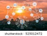 internet of things and smart... | Shutterstock . vector #525012472