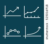thin line chart  graph icon on...