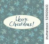 christmas card. vector... | Shutterstock .eps vector #525020632