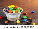 colorful chocolate candies in...   Shutterstock . vector #525022138