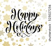 happy holidays vector pattern... | Shutterstock .eps vector #525027256