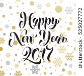 2017 vector pattern of winter... | Shutterstock .eps vector #525027772