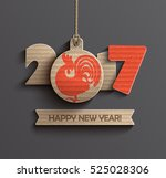 happy new year 2017. year of... | Shutterstock .eps vector #525028306