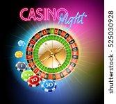 vector casino banner with...   Shutterstock .eps vector #525030928