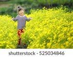 happy little pretty girl in... | Shutterstock . vector #525034846