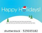 2018 happy new year. happy... | Shutterstock .eps vector #525035182