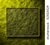 stone wall and frame - stock photo