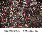 blurred crowd of people in... | Shutterstock . vector #525036346