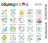 color box icons  growth hacking ... | Shutterstock .eps vector #525037918