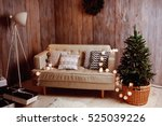 decorated christmas tree with... | Shutterstock . vector #525039226